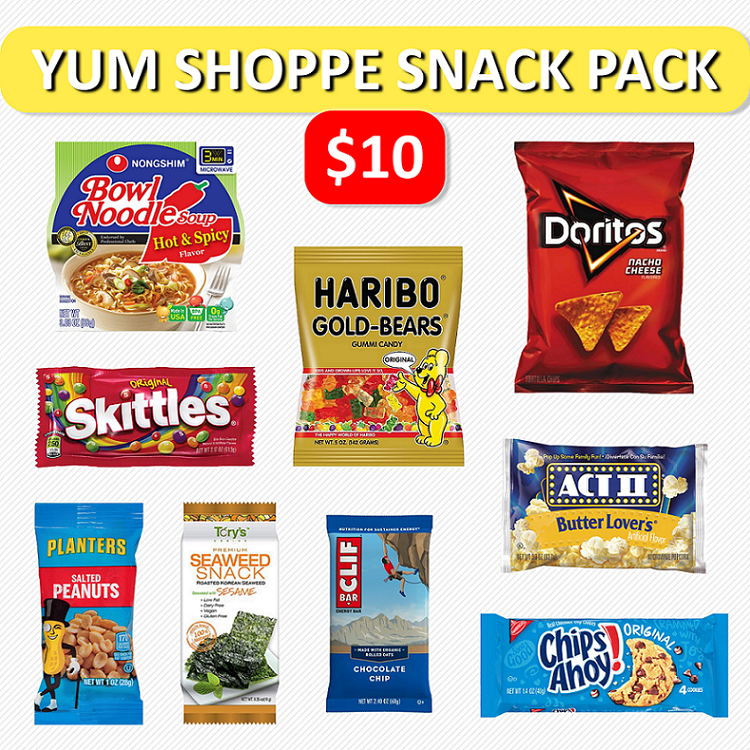 $10 Yum Shoppe Snack Pack