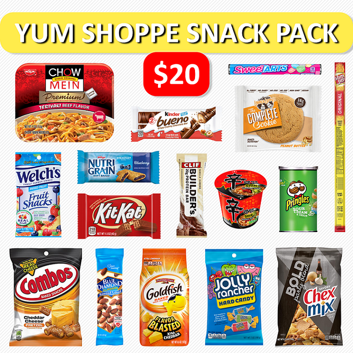 $20 Yum Shoppe Snack Pack
