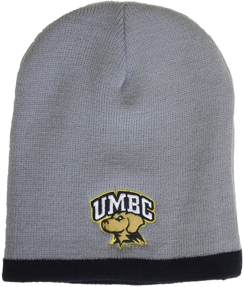 HAT: TWO COLOR KNIT BEANIE MASCOT