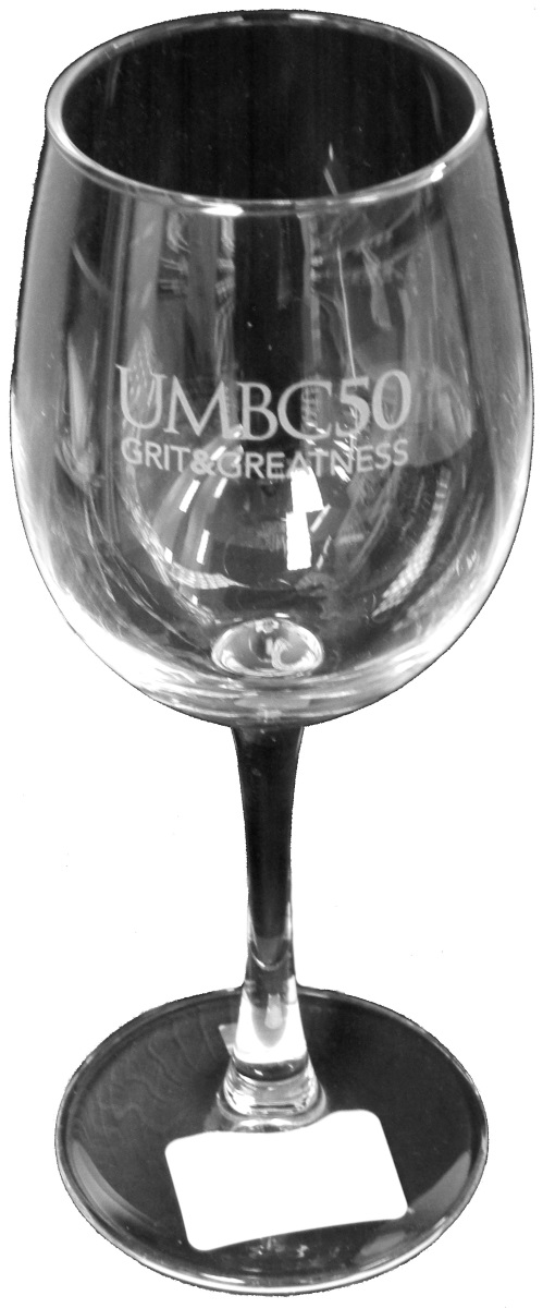 50TH: ETCHED WINE GLASS