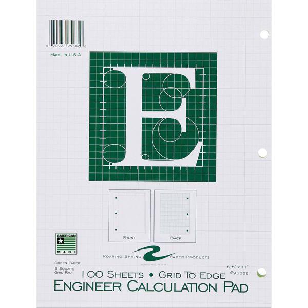 ENGINEER CALCULATION PAD 100 SHEETS