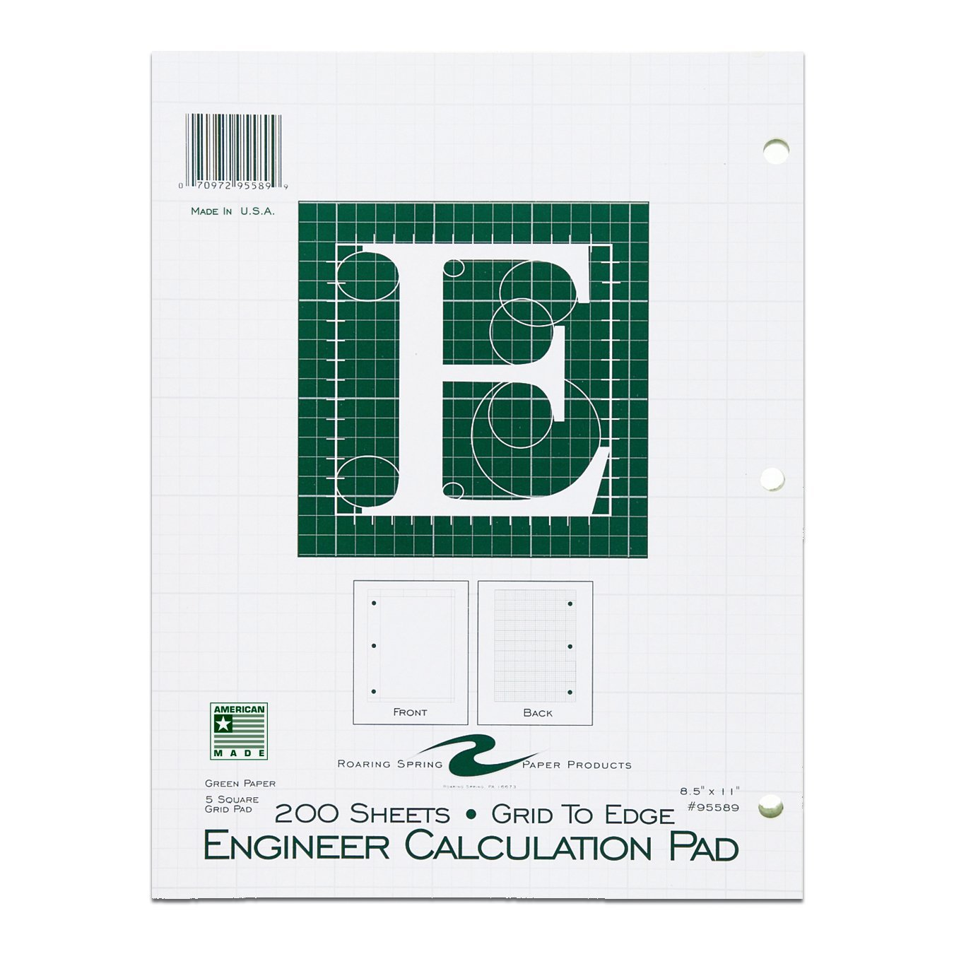 ENGINEER CALCULATION PAD 200 SHEETS