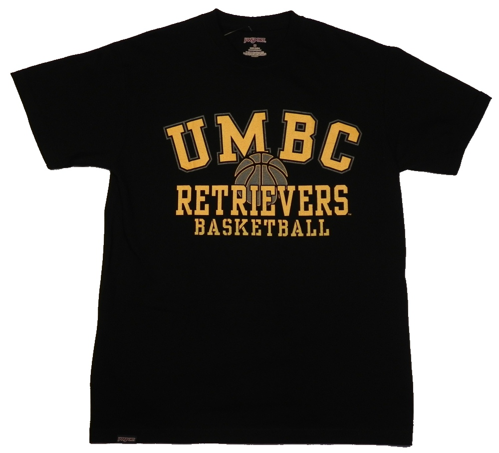 BASKETBALL BLACK & GOLD T-SHIRT JANSPORT | UMBC Bookstore