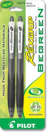 BEGREEN REXGRIP BALL POINT PEN (BLACK/MED)