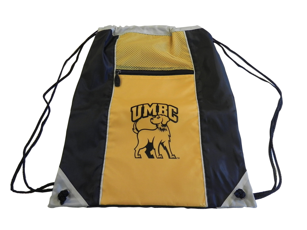 DRAWCORD BACK SACK: UMBC FULL BODY LOGO