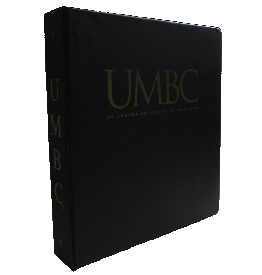 "BINDER: 1.5"" UMBC HONORS LOGO"