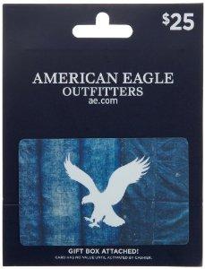 AMERICAN EAGLE $25 GIFT CARD