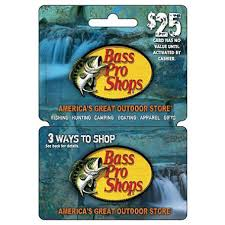 BASS PRO SHOPS $25 GIFT CARD