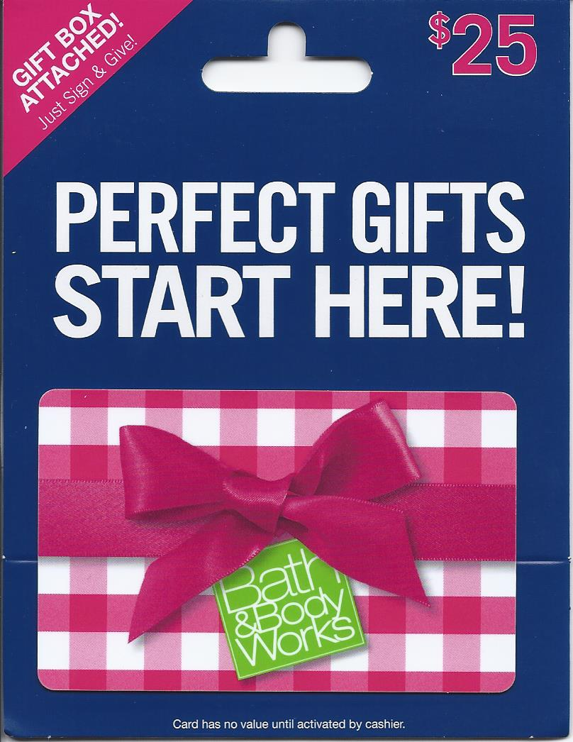 BATH & BODY WORKS $25 GIFT CARD