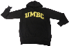 HOODED SWEATSHIRT: BASIC BLK/GOLD