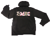 HOODED SWEATSHIRT: UMBC WITH MARYLAND FLAG PRINT