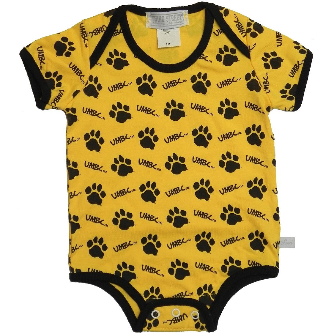 Image For BABY: UMBC PAW DIAPER SHIRT