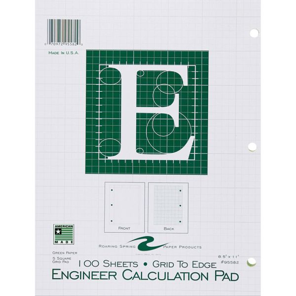 Image For ENGINEER CALCULATION PAD 100 SHEETS