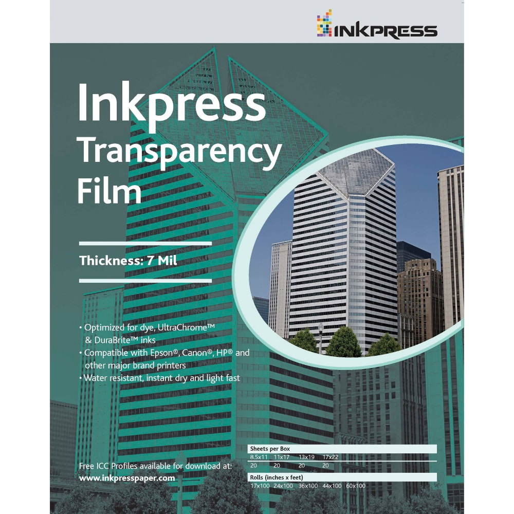 Image For TRANSPARENCY FILM: INKPRESS