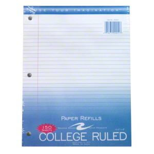 Image For PAPER: COLLEGE REFILLS