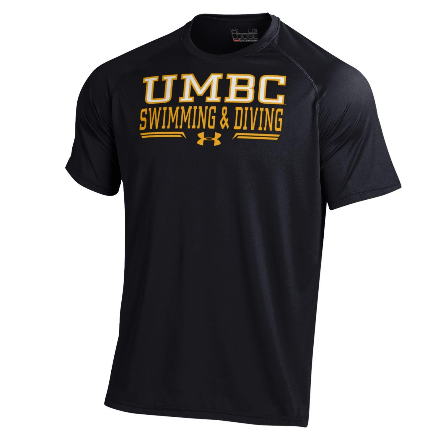 Swimming diving t shirt under armour umbc bookstore for Under armour swim shirt youth