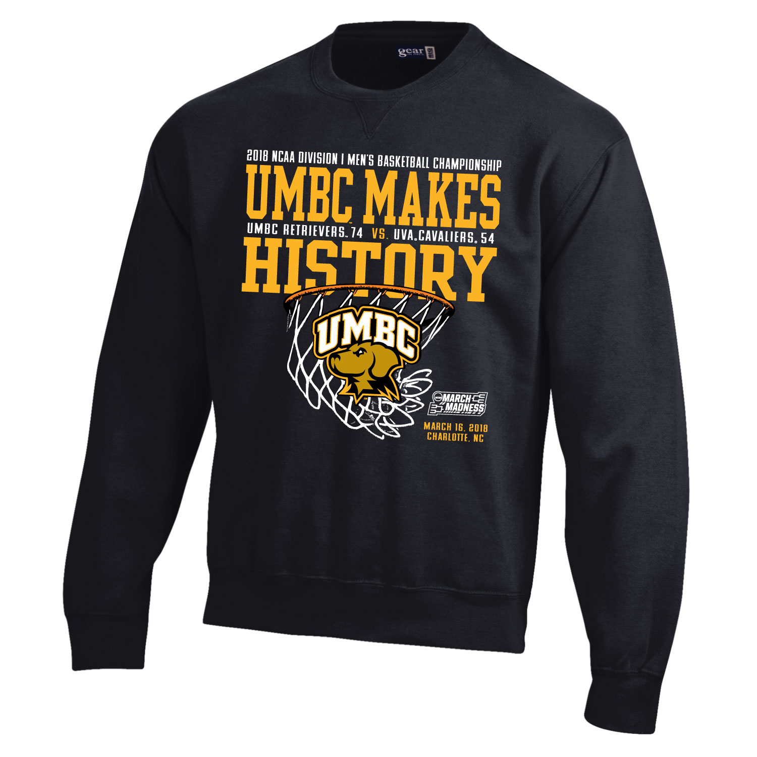 Image For ** CREW NECK SWEATSHIRT: NCAA MAKING HISTORY **