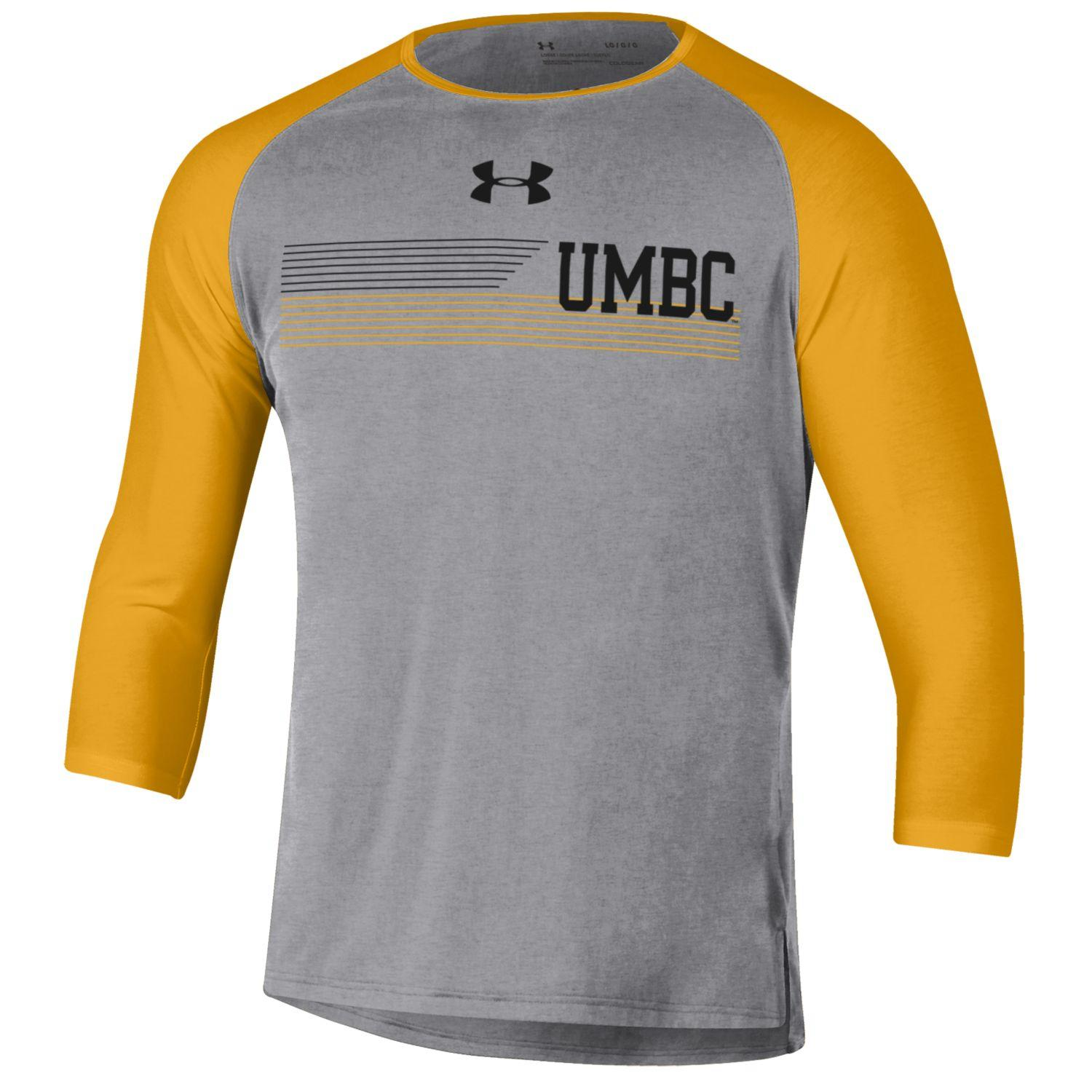 Image For THREE-QUARTER SLEEVE T-SHIRT: UNDER ARMOUR SMU BASEBALL