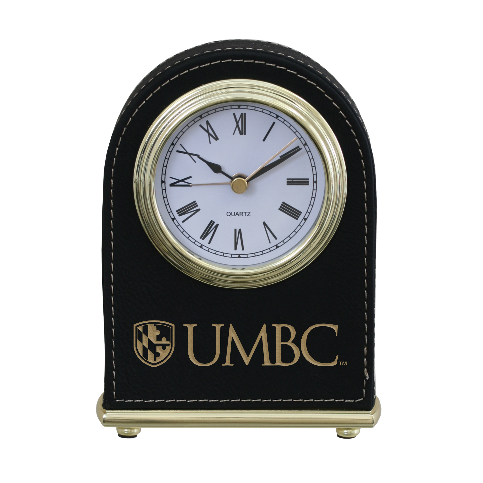 Image For DESK CLOCK: ARCHED SHIELD