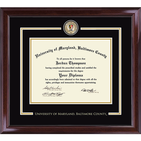 Image For CHURCH HILL ENCORE DIPLOMA FRAME WITH MEDALLION