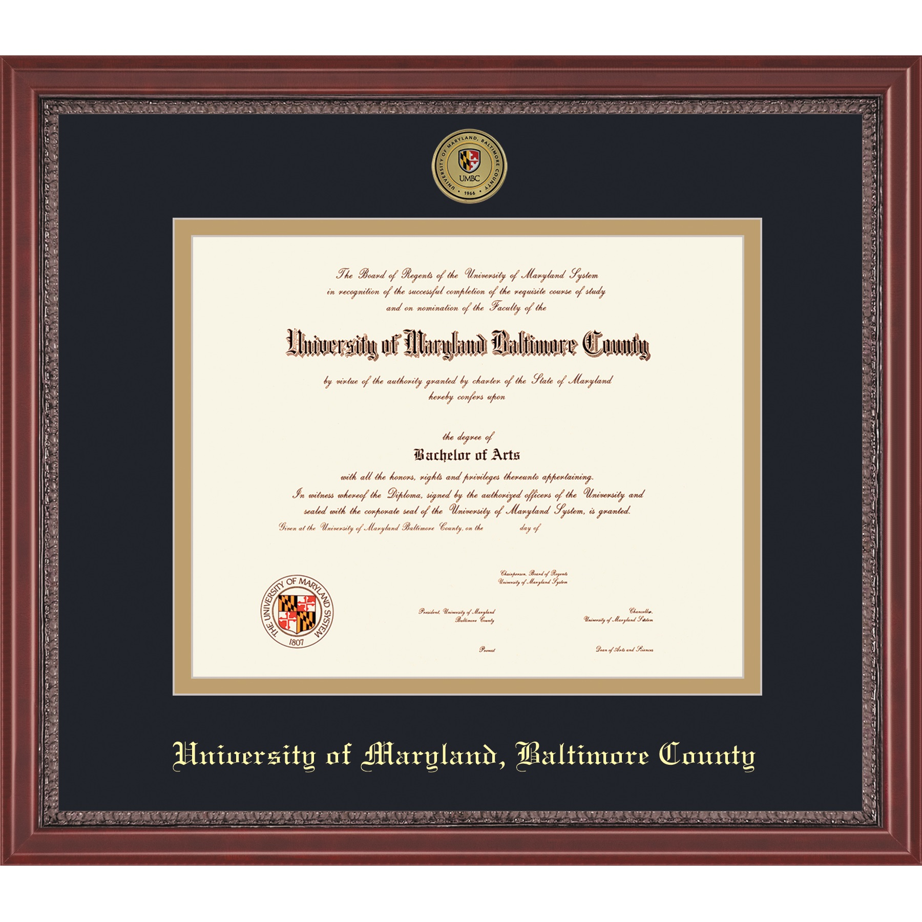 Image For FRAMING SUCCESS GRANDEUR DIPLOMA FRAME WITH MEDALLION