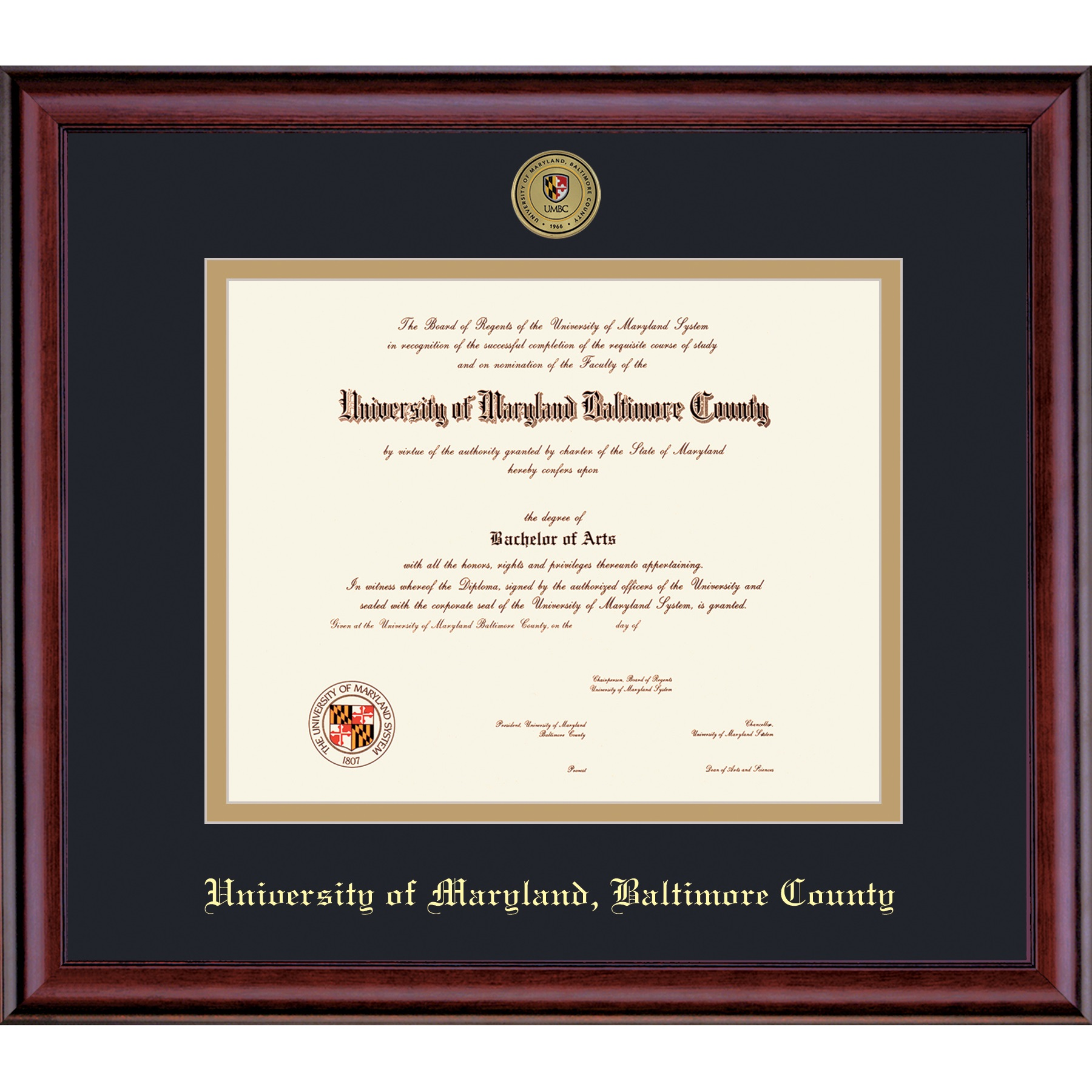 Image For FRAMING SUCCESS CLASSIC DIPLOMA FRAME WITH MEDALLION
