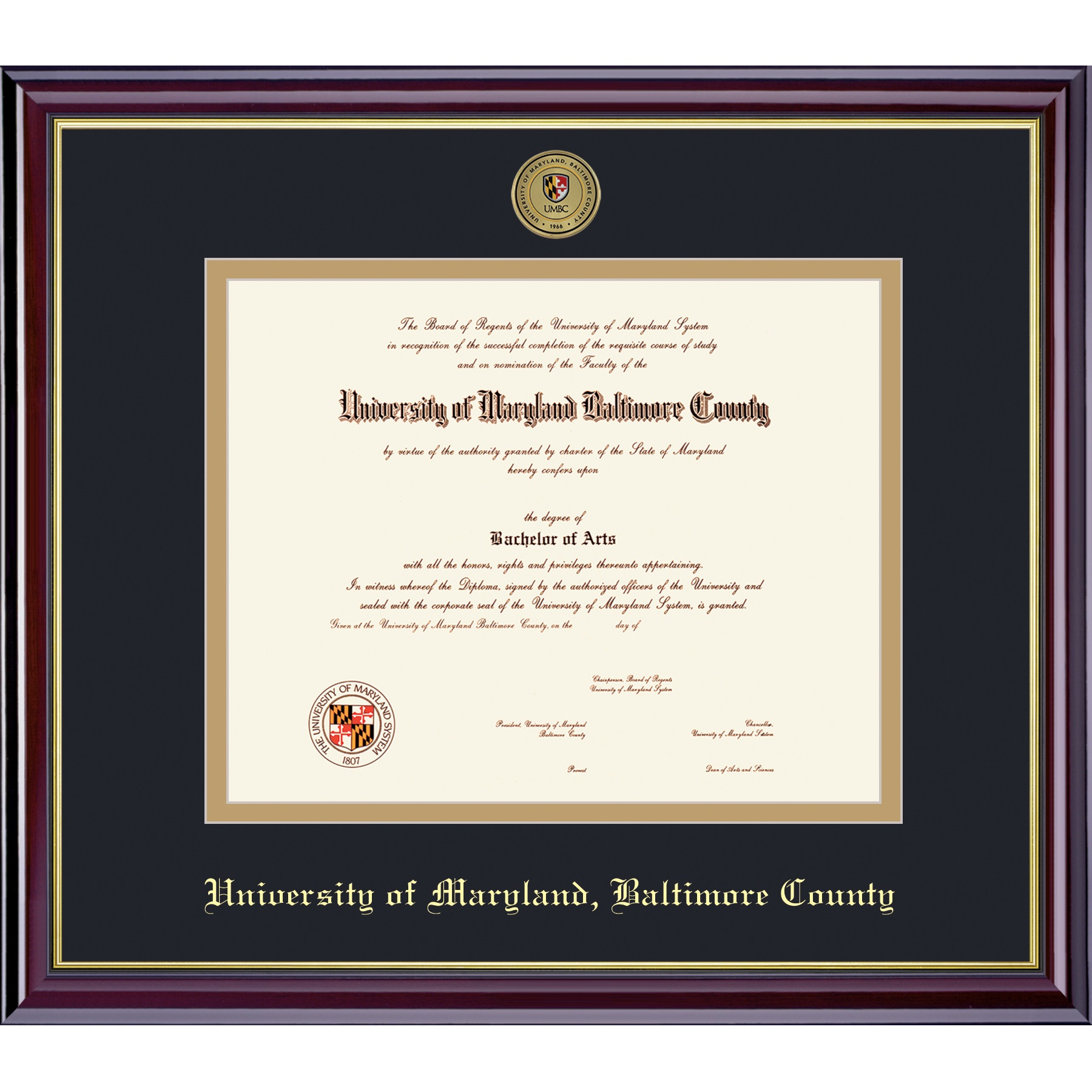 Image For FRAMING SUCCESS WINDSOR DIPLOMA FRAME WITH MEDALLION