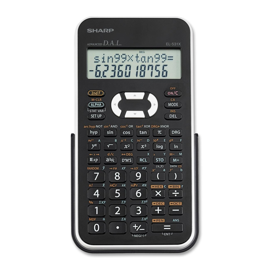 Cover Image For SHARP TWO LINE SCIENTIFIC CALCULATOR
