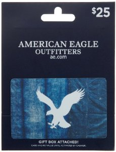 Cover Image For AMERICAN EAGLE $25 GIFT CARD