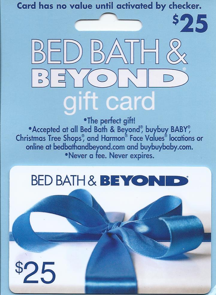 cover image for bed bath beyond 25 gift card
