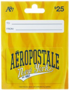 Cover Image For AEROPOSTALE $25 GIFT CARD