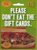 Image for QUIZNOS $15 GIFT CARD