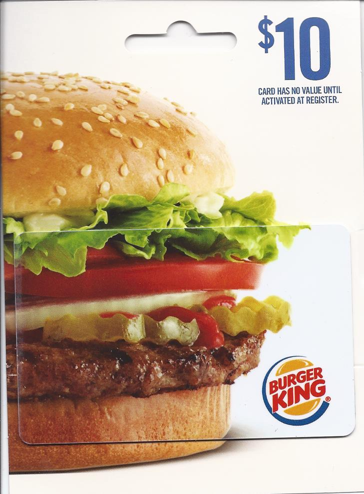 Cover Image For BURGER KING $10 GIFT CARD