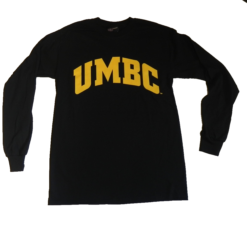 Image For BASIC BLACK AND GOLD LONG SLEEVE T-SHIRT